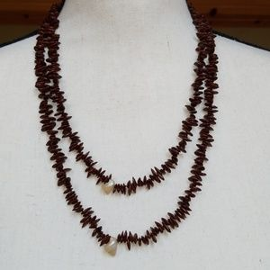 Vintage Apple Seed Long Layering Necklace